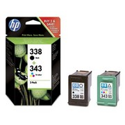 HP 338 + HP 343 (SD449EE) Pachet Cartuse Negru si Color