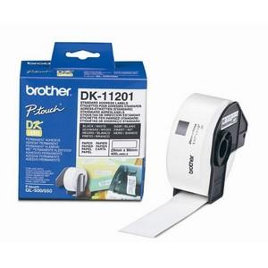Brother DK11201 Rola Etichete Hartie Standard pentru Adrese Negru pe Alb
