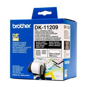 Brother DK11209 Rola Alba Etichete Mici de Adrese