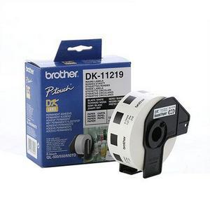 Brother DK11219 Rola de Etichete Rotunde Negru pe Alb