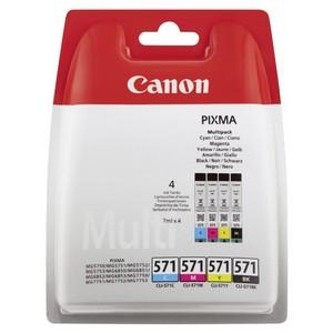 Canon CLI-571C/M/Y/BK Pachet Cartuse Negru si Color