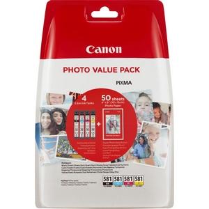Canon CLI-581C/M/Y/BK Pachet Cartus Negru si 3 Color CMY