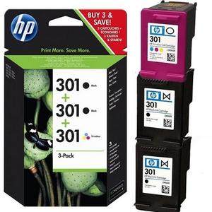 HP 301 + HP 301 (E5Y87EE) Pachet 2 Cartuse Negre si 1 Cartus Color