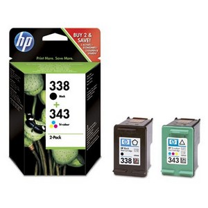 HP 338 + HP 343 (SD449EE) Pachet Cartuse Negru si Color