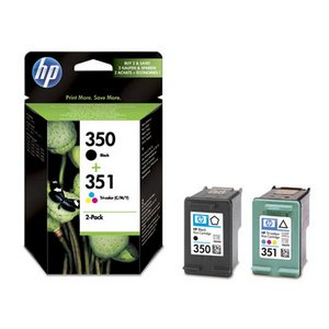 HP 350 + HP 351 (SD412EE) Pachet Cartuse Negru si Color