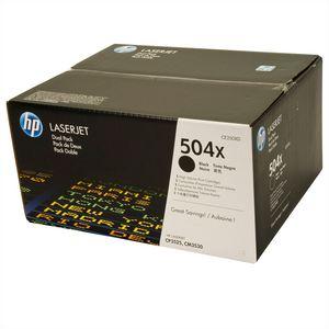 HP 504X (CE250XD) Pachet 2 Cartuse Toner Negre