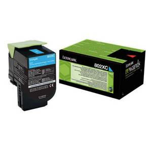 Lexmark 802XC (80C2XC0) Cartus Toner Return Albastru