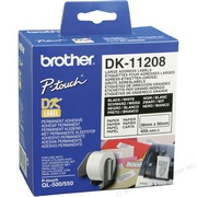 Brother DK11208 Rola Etichete Negru pe Alb