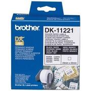Brother DK11221 Rola Etichete pentru Arhivare Negru pe Alb