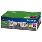 Brother TN243CMYK Pachet Cartuse Toner Negru si Color CMY