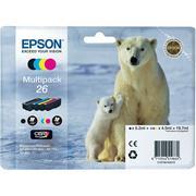 Epson 26 (C13T26164010) Pachet Cartuse Negru si Color