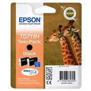 Epson T0711H (C13T07114H10) Pachet 2 Cartuse Negre