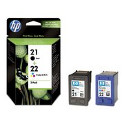 HP 21 + HP 22 (SD367AE) Pachet Cartuse Negru si Color