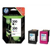 HP 300 + HP 300 (CN637EE) Pachet Cartuse Negru si Color