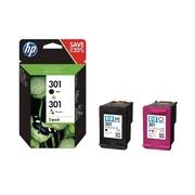 HP 301 + HP 301 (N9J72AE) Pachet Cartuse Negru si Color