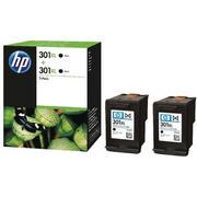 HP 301XL (D8J45AE) Pachet 2 Cartuse Negre
