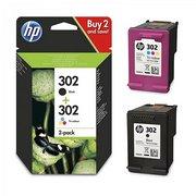 HP 302 + HP 302 (X4D37AE) Pachet Cartus Negru si Color