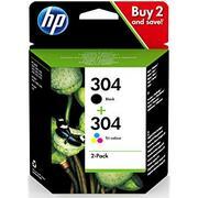 HP 304 + HP 304 (3JB05AE) Pachet 2 Cartuse Negru si Color