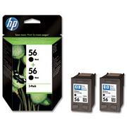 HP 56 (C9502AE) Pachet 2 Cartuse Negre