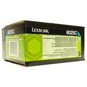 Lexmark 802SC (80C2SC0) Cartus Toner Return Albastru