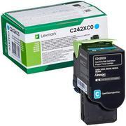 Lexmark C242XC0 Cartus Toner Return Albastru